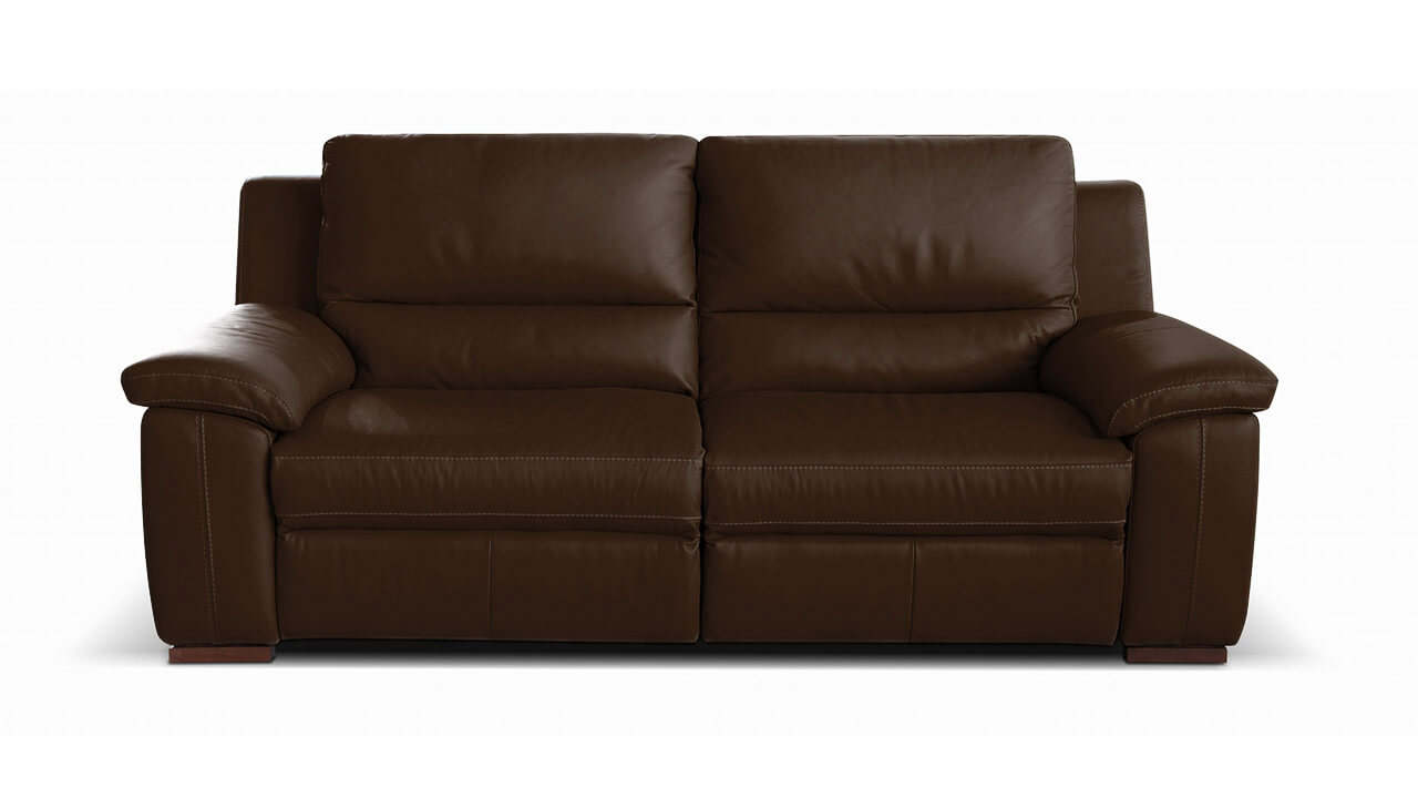 Diamante 2 seater leather sofa vavicci fine home for Chaise diamante