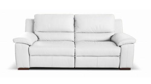 Diamante 2 Seater Leather Sofa White