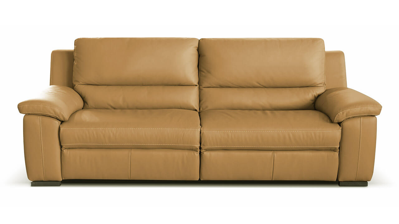 Diamante 3 seater leather sofa vavicci fine home for Chaise diamante