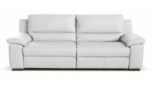 Bon Diamante 3 Seater Leather Sofa   White