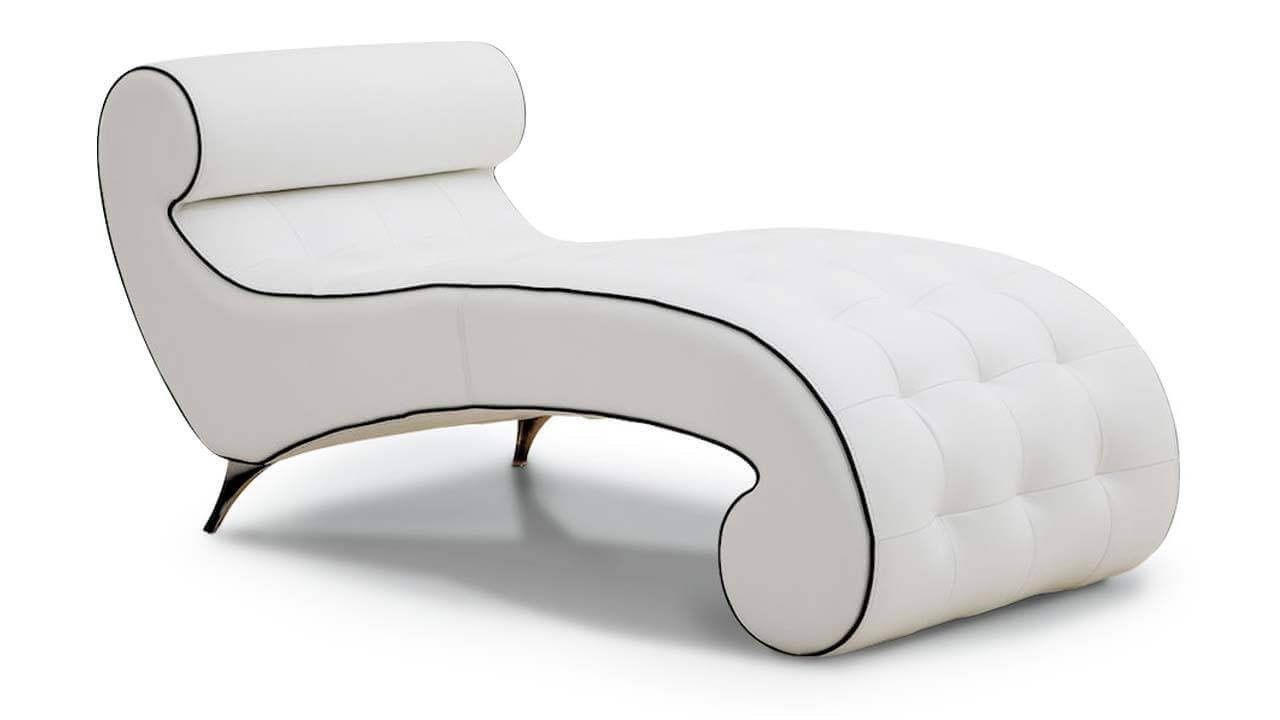 Chaise longue leather italian minuet vavicci fine for Chaise longue relax